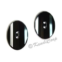 14mm Swarovski #3016 Oval Button ~ Jet