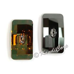 30x16mm Swarovski #3093 Chessboard Button ~  Crystal Copper