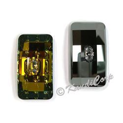 30x16mm Swarovski #3093 Chessboard Button ~  Crystal Tabac