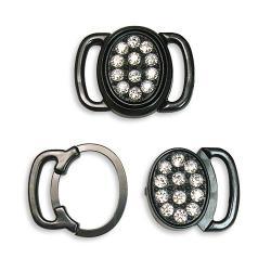 Swarovski #5150 Crystal Lingerie Fasteners ~ Black
