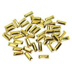 Rectangle 2.5x7mm Gold HotFix Nailheads