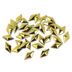 Diamond 5x10mm Gold HotFix Nailheads