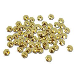 Hexagon 4mm Gold HotFix Nailheads