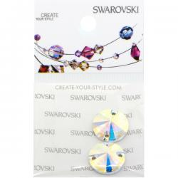 Swarovski Retail Ready Package 3200 12mm Crystal AB - 2 pcs