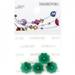 Swarovski Retail Ready Package 3700 10mm Emerald - 4 pcs