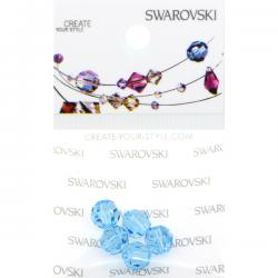Swarovski Retail Ready Package 5000 6mm Aqua - 5 pcs