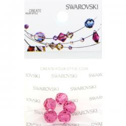 Swarovski Retail Ready Package 5000 6mm Rose - 5 pcs