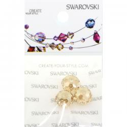 Swarovski Retail Ready Package 5040 8mm Crystal Golden Shadow - 3 pcs