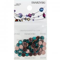 Swarovski Retail Ready Package 2078 5mm (SS20) Blue Zircon - 50 pcs