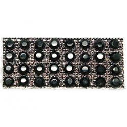 "Rhinestones by the Yard 3mm Jet/ 1/4"" Black Band"
