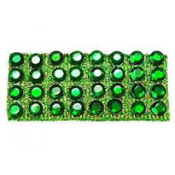 "Rhinestones by the Yard 3mm Emerald/ 1/4"" Green Band"