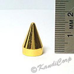 9x15mm Cone Screwback Spike - Gold