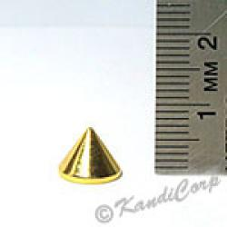 9x7mm Cone Screwback Spike - Gold