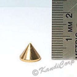 9x7mm Cone Screwback Spike - RoseGold