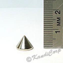 9x7mm Cone Screwback Spike - Silver
