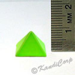 13x9mm Pyramid Screwback Spike - Lime (Candy-Colored)