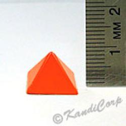 13x9mm Pyramid Screwback Spike - Orange (Candy-Colored)