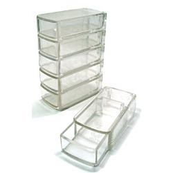 Clear Plastic Stackable Storage Boxes ~ 6 count