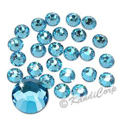 2mm 6ss Aquamarine Swarovski 2038 Low Lead Swarovski HotFix Crystals