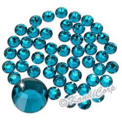2mm 6ss Blue Zircon Swarovski 2038 Low Lead Swarovski HotFix Crystals