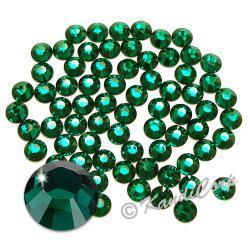 7mm 34ss Emerald Swarovski 2038- Low Lead Swarovski HotFix Crystal