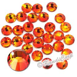 5mm 20ss Fire Opal Swarovski 2038- Low Lead Swarovski HotFix Crystal