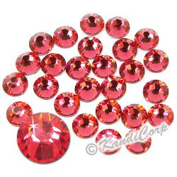 7mm Indian Pink Swarovski 2038- Low Lead Swarovski HotFix Crystals