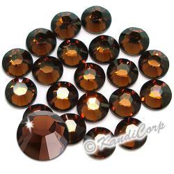 3mm 10ss Smoked Topaz Swarovski 2038 Swarovski HotFix Crystals