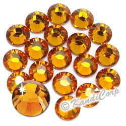 5mm 20ss Topaz Swarovski 2038 Low Lead Swarovski HotFix Crystals