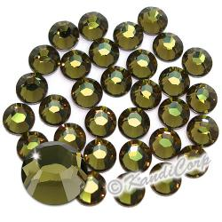 3mm 10ss Khaki Swarovski 2038 Low Lead Swarovski HotFix Crystals