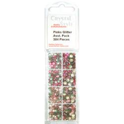 CrystalStyle Pink Glitter Pearl Assortment Pack