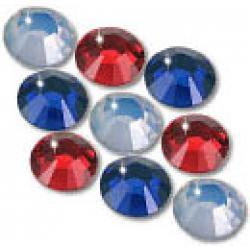 3mm 10ss Patriotic Mix CraftSafe HotFix Crystals