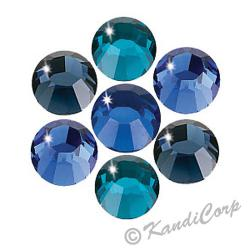 3mm Blues Mix Swarovski Non-HotFix FB 2028 Crystals