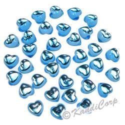 10mm Heart  Aquamarine FlatBack