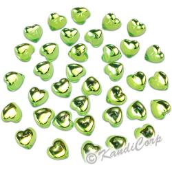 10mm Heart  Peridot FlatBack