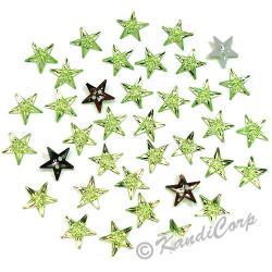 13mm Stars Peridot Sew-On