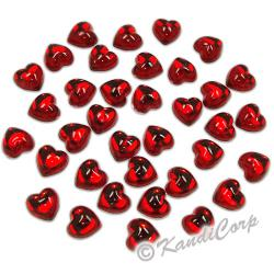 10mm Heart  Ruby FlatBack