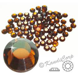 2mm 6ss Smoked Topaz CraftSafe HotFix Crystals