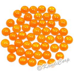 3mm Orange Flourescent HotFix Pearls
