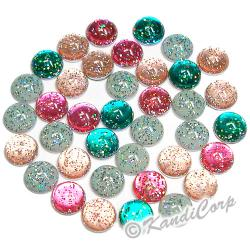 4mm Glitter HotFix Pearlstuds Assorted