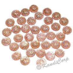 4mm Rose Glitter HotFix Pearlstuds