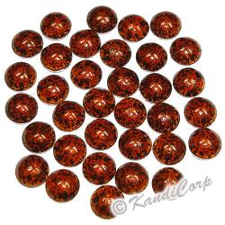 6mm Rust/Earth Marble Texture HotFix PearlStuds