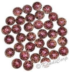 6mm Pink/Burgundy Marble Texture HotFix PearlStuds