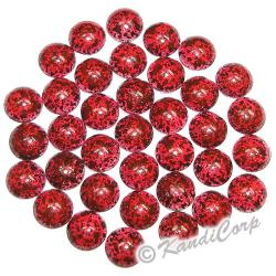 6mm Red/Dark Red Marble Texture HotFix PearlStuds