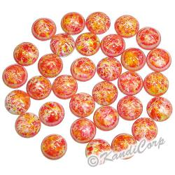 6mm Orange/Yellow Bold Marble HotFix PearlStuds