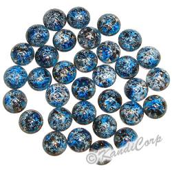 6mm Navy/Sky Blue Bold Marble HotFix PearlStuds