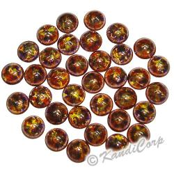 4mm Brown/Gold Bold Marble HotFix PearlStuds