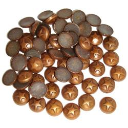 Dome Copper Small Star HotFix Dimensional Metals (6mm)