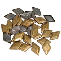 Dome Brass Diamond HotFix Dimensional Metals (6mm)
