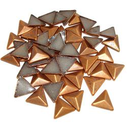 Dome Copper Triangle HotFix Dimensional Metals (6mm)